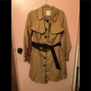 Camel Colored Trench coat by ModCloth